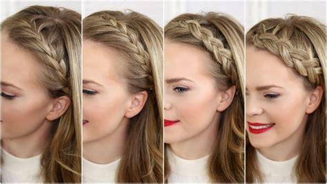 tutorial kepang rambut lace 4 načina kako isplesti pletenicu uz glavu frizure cromoda