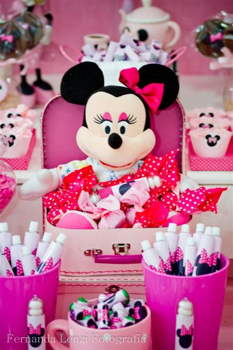 minnie mouse themed birthday decorations kara s ideas disney minnie mouse pink themed