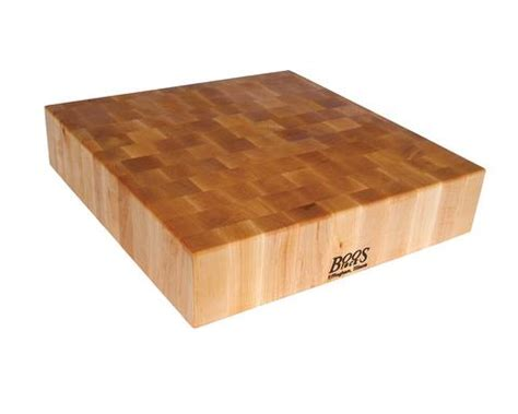 boos maple end grain square chopping block 24 x 24 x