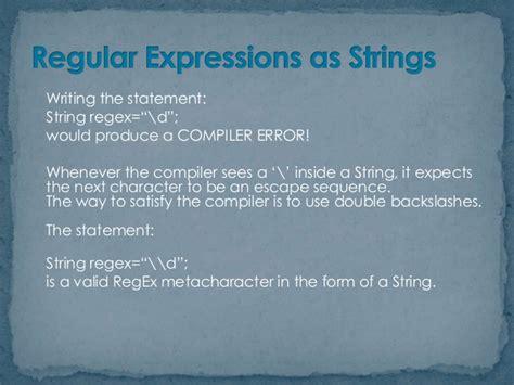 java pattern regex escape regular expressions in java