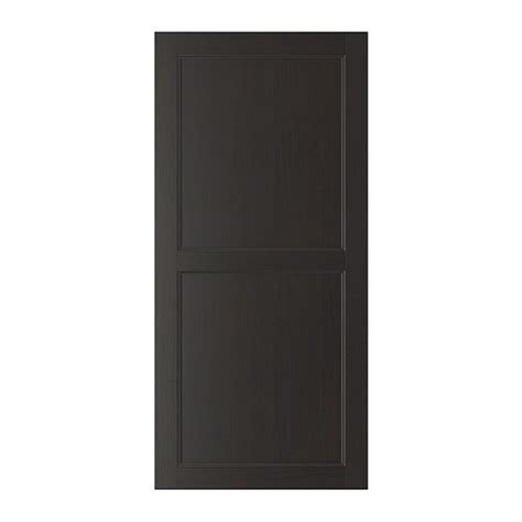 besta door best 197 vassbo door black brown 60x128 cm ikea