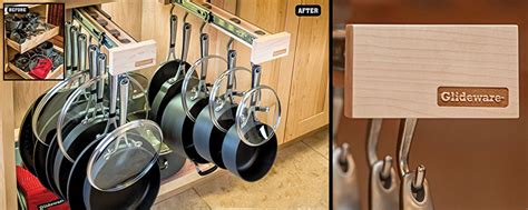 Pull Out Hanging Pot Rack by Glideware Pull Out Cabinet Organizer For Pots