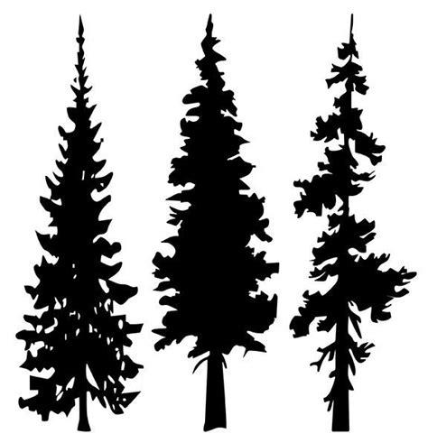 pine tree silhouette tattoo tree line silhouette search forest