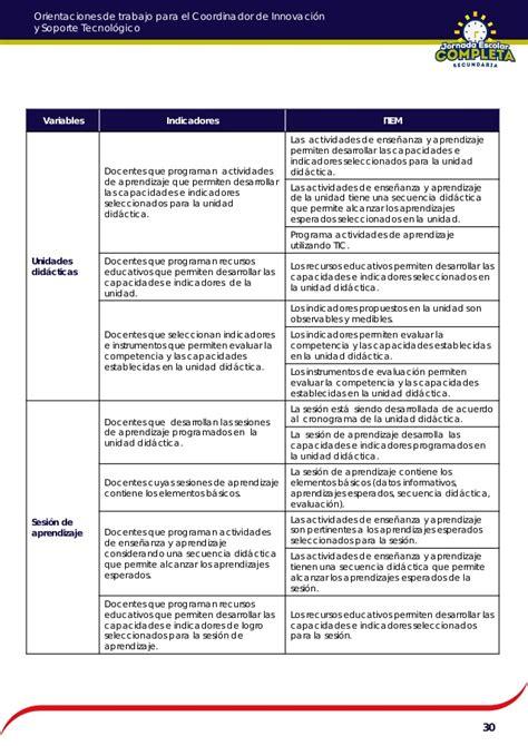 programacion curricular de matematica colegio de jornada escolar completa orientaciones para coordinador pedagogico de jornada