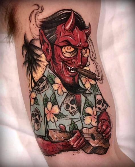 satan tattoo satan on vacation by varotattooer at lighthouse in