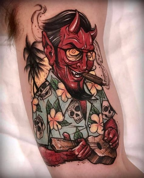 satan tattoos satan on vacation by varotattooer at lighthouse in