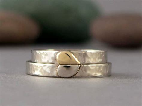 Wedding Bands With Hearts by His Wedding Bands Hearts Onewed