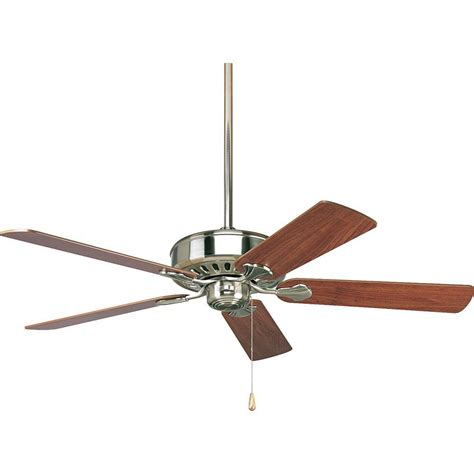 Progress Lighting Ceiling Fans Progress Lighting Airpro Performance 52 In Brushed Nickel Ceiling Fan P2503 09 The Home Depot