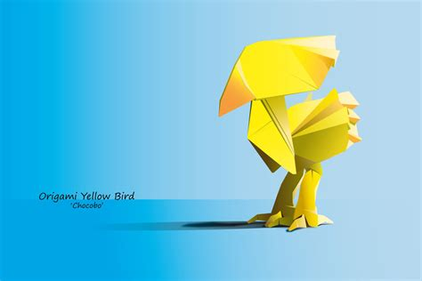 Origami Chocobo - origami chocobo by keymemories on deviantart