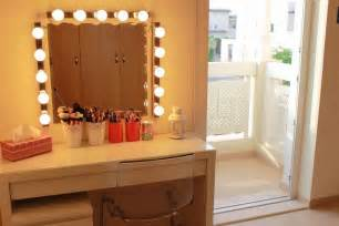 bedroom vanity with lighted mirror open innovatio