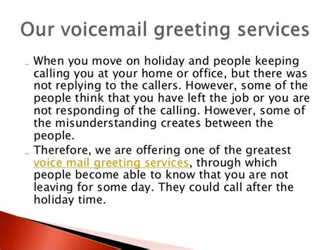 Office Voicemail Greeting Professional Voicemail Greeting