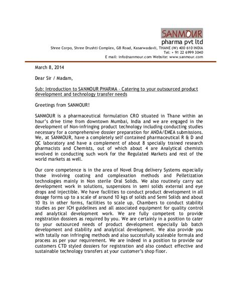 Logistics Business Introduction Letter Sle cover letter company introduction 28 images sle