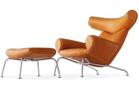 Ox Chair by Hans Wegner Ej100 Ox Chair Ottoman Hivemodern