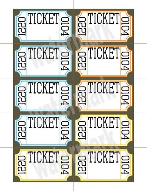 printable personalized tickets best 25 printable raffle tickets ideas on pinterest