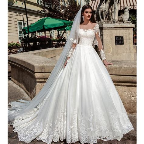 Pretty Wedding Dresses With Sleeves by Illusion Sleeves Pretty Wedding Dresses Gown
