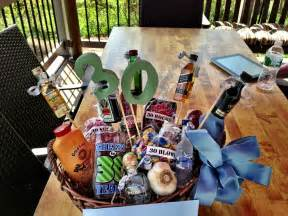 30th birthday gift basket for him gift basket ideas