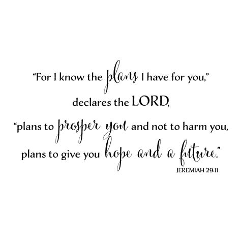 for i know the plans i have for you tattoo jeremiah 29v11 vinyl wall decal 12 for i the plans i