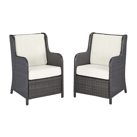 Vinyl Patio Chairs Shop Home Styles Riviera 2 Count Brown Woven Vinyl Patio Conversation Chairs At Lowes