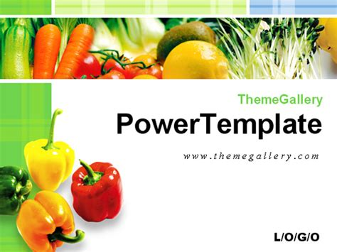 fresh vegetables food ppt template powerpoint