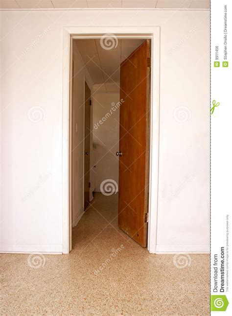 open door leading to another room royalty free stock image