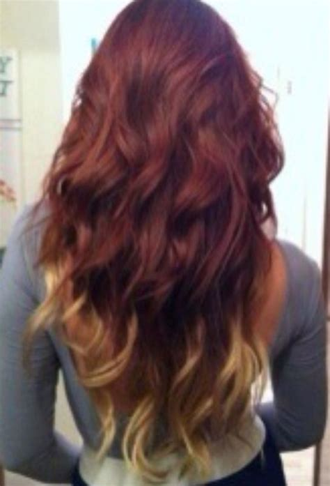 dyed hairstyles for brown hair brown red blond hair dip dye hair pinterest chang