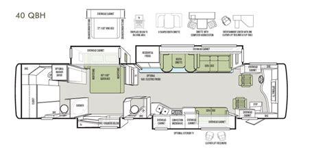phaeton qbh floor plan bath and a half floorplan phaeton 40 qbh tiffin