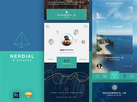 app design kit free app ui kit 8 screens for photoshop and sketch