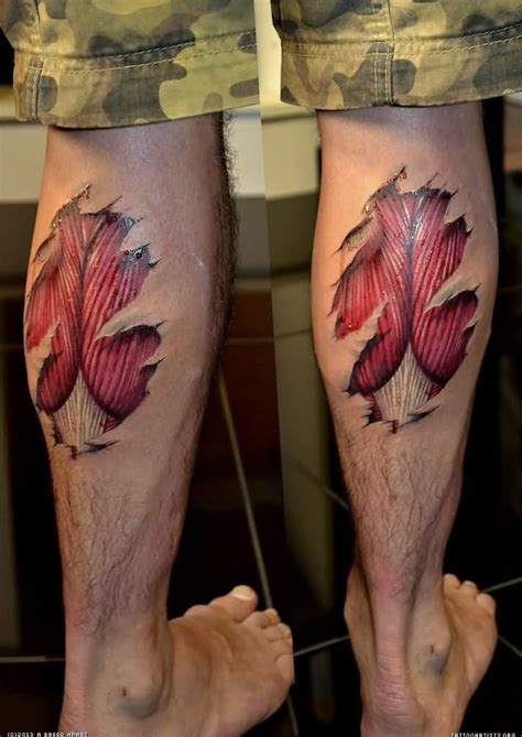 calf tattoo design 70 best tear of skin images on ripped skin
