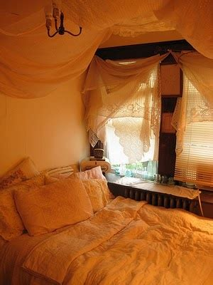 Hanging Fabric From Ceiling In Bedroom by