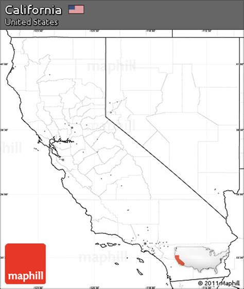 california map simple free blank simple map of california no labels