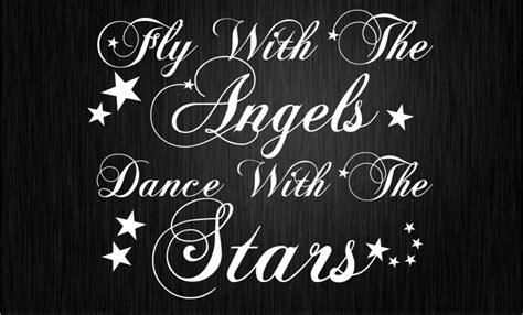Wall Stickers Nursery Uk fly with the angels dance with the stars wall sticker