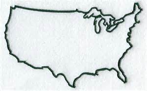 The United States Outline by Machine Embroidery Designs At Embroidery Library Embroidery Library