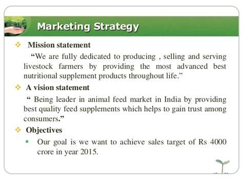 strategy statement template marketing plan of animal feed summerkool