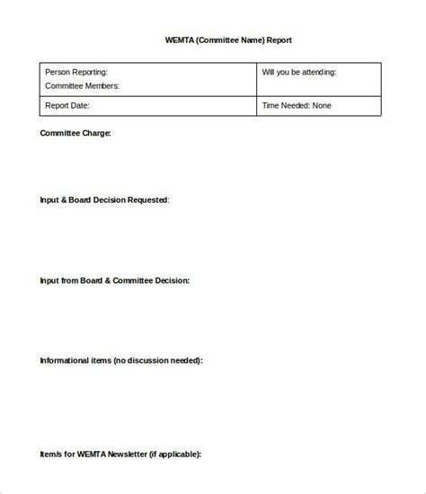 board report templates 18 board report templates free sle exle format