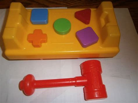 Fisher Price Hammer used fisher price tap n turn hammer work bench shapes