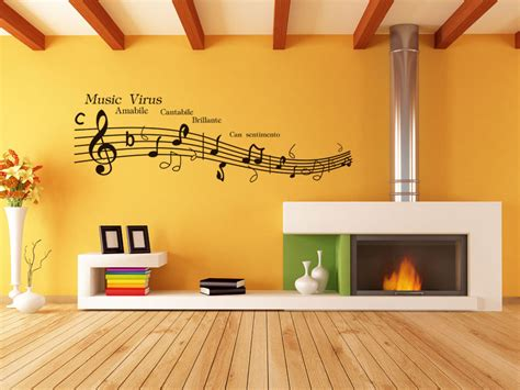 music decorations for home free shipping music virus music room decorative wall
