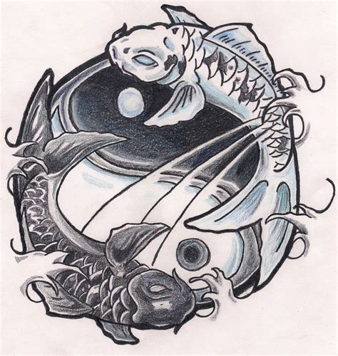 yin yang koi tattoo koi ying yang by poeticxtragedy65 on deviantart logo
