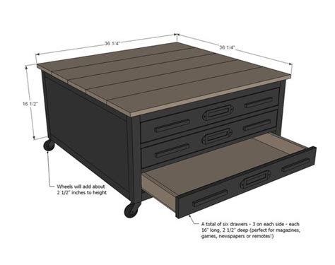 table with drawers plans coffee tables easy diy projects and drawers on