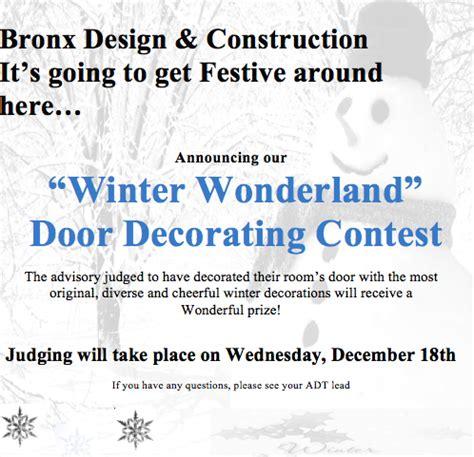 design competition judging criteria winter wonderland door decorating contest bdca advisory