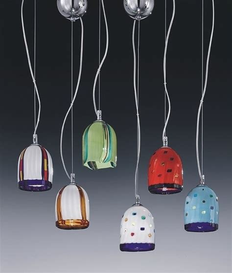 coloured glass pendant lights murano glass pendant in multi colours
