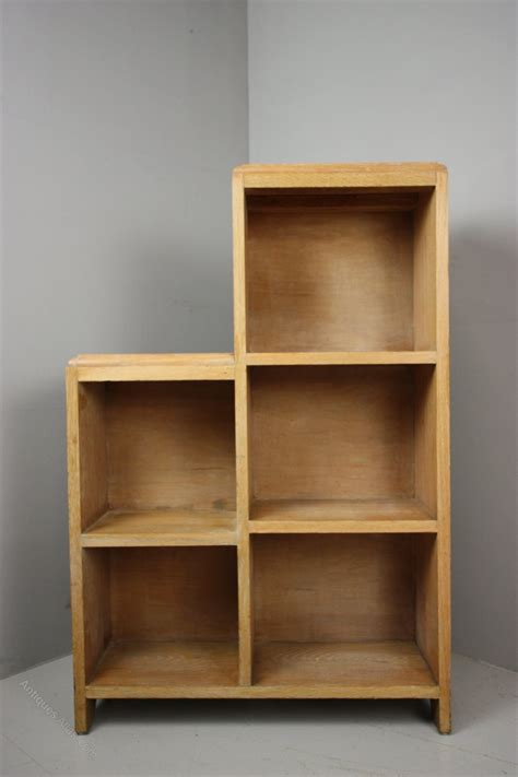 1920 s stepped bookcase in oak antiques atlas