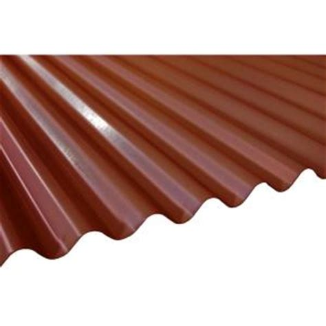 16 ft terra cotta corrugated steel roof panel rf