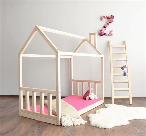 house bed house bed frame with rails shopkidday