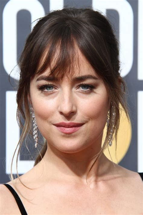 how to get hair like dakota johnson dakota johnson straight dark brown choppy bangs face