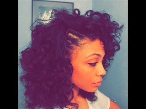 curly hairstyles with braids on the side curly fro with braided side youtube
