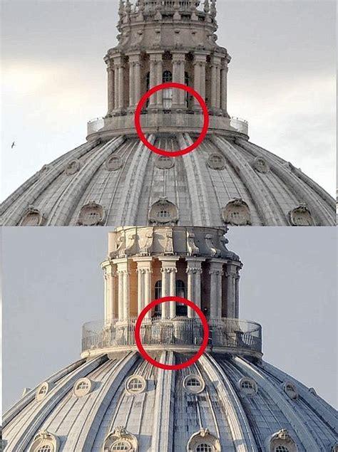 cupola di s pietro ringhiera pi 249 alta foto giorno corriere roma