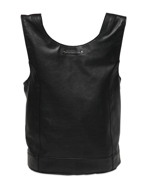 Jean Paul Gaultier Bombers Bag by Jean Paul Gaultier Nappa Leather Biker Jacket Tote Bag In