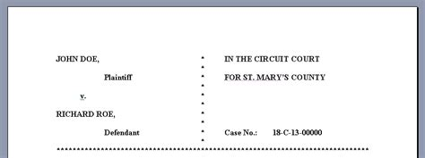 filing a motion in a maryland circuit court the maryland