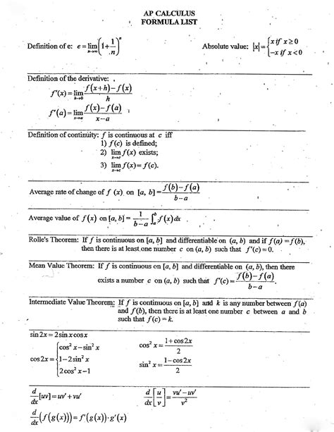 Credit Maths Formula Sheet Here Are Some Formulae That Might Be Useful Sheet 1 Sheet 2 Sheet 3 Sheet 4 Credit To