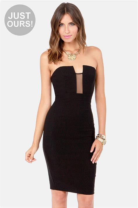 Lulus Exclusive Offer Get 15 On Fab Clothes by Strapless Dress Midi Dress Black Dress 36 50